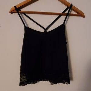 Divided Black Camisole - XS